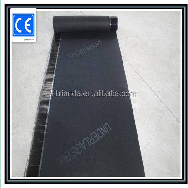 Single surface sand asphalt roofing felt