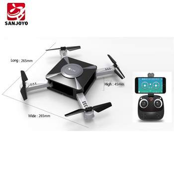 GPS Foldable drone with set height function lose control return 2.4G single GPS with 720p wifi camera PK JXD 518 SJY-W606-10W