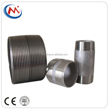 Seamless Stainless Steel Full Male Threaded Pipe Nipples Close Nipple Round Tube Connecter