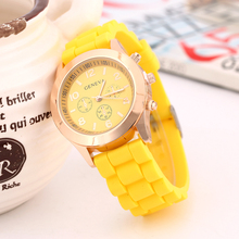 high quality silicone watch promotion gift women lady watches rubber strap watch
