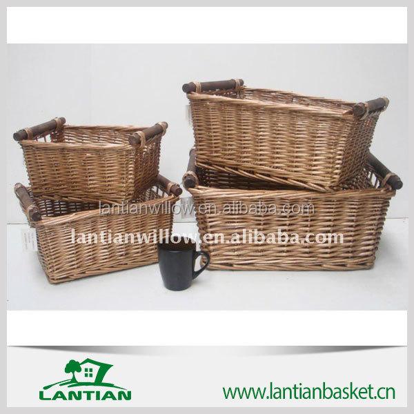 Wicker Basket With Wooden Handle Buy Wicker Basket Wicker Storage
