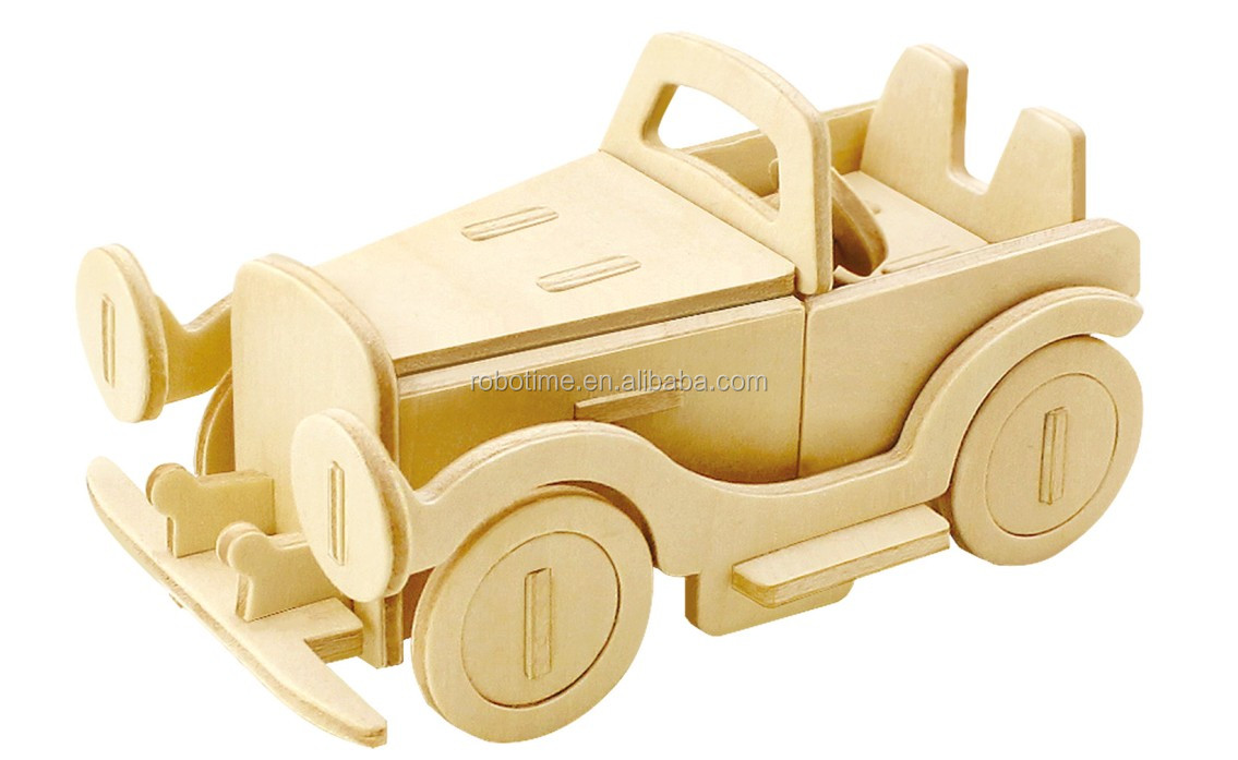 China supplier of DIY 3D wooden toy Classic car
