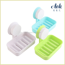 Bathroom accessory plastic soap dish with suction