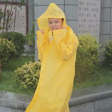 Yellow Red Transparent Rain Coat /Wear of PVC