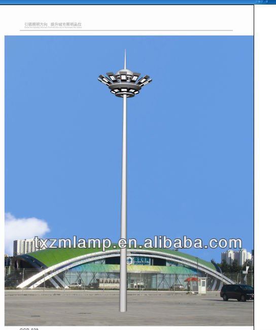 2013 new style and good quality18m-30m concrete lighting pole
