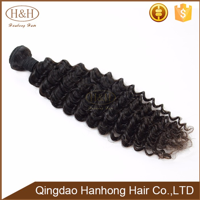 Wholesale Hot selling products Coloring Very Good 7A deep wave human virgin Peruvian hair