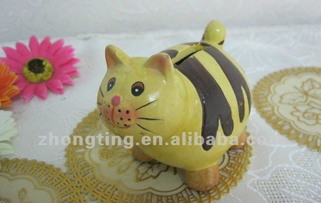 Lovely animal shaped ceramic kids lucky pig coin box