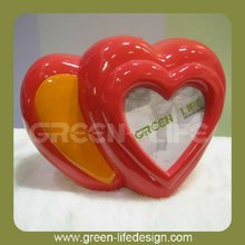 Polyresin Heart Shaped fram piggy bank