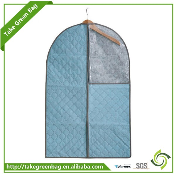 Custom reusable non woven foldable suit garment bag