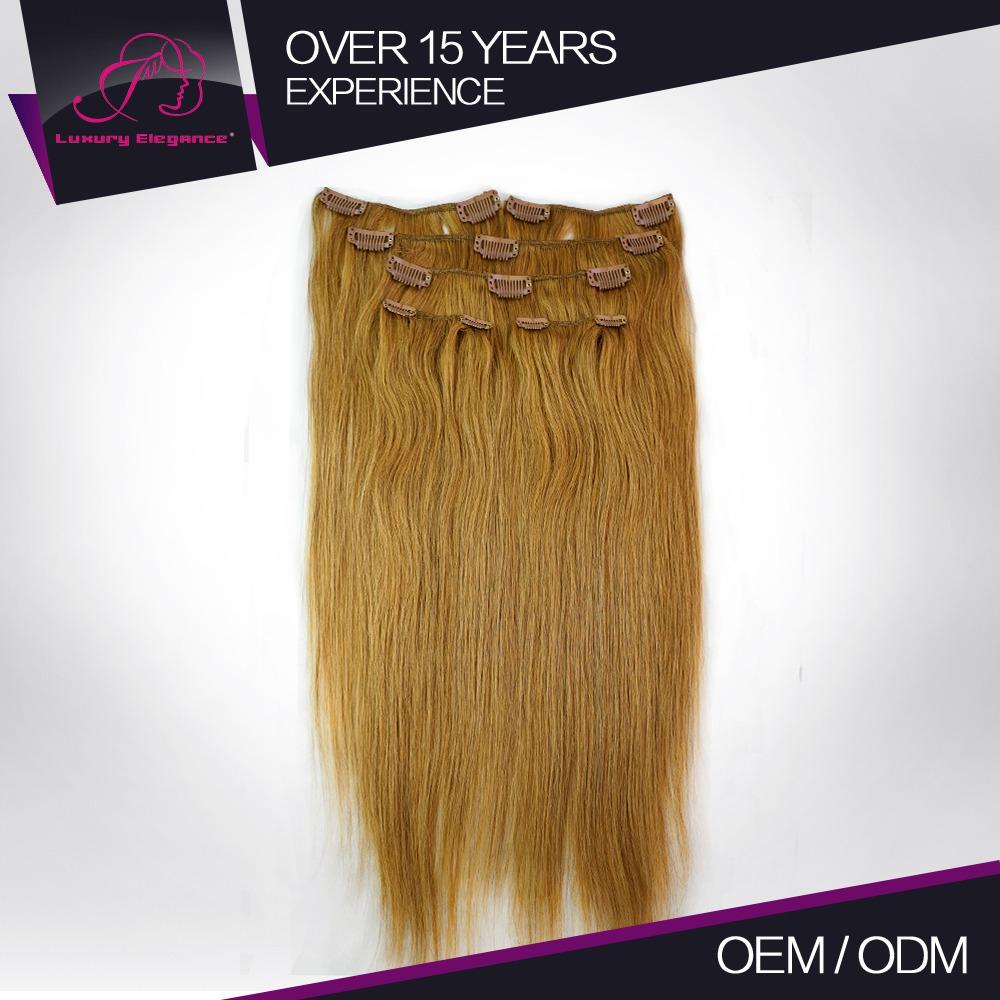 100 Brazilian Hair Clip On Hair Extension 18 19 Inch Hair