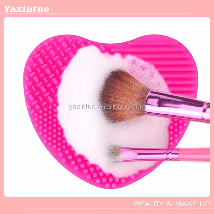 Lovely Heart Silicone Brushegg /Makeup Brush Cleaner Egg