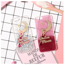 Sailor Moon Pretty Cute Pink Silver Bling Sparkle Case Cover for iPhone 8 8Plus 7Plus