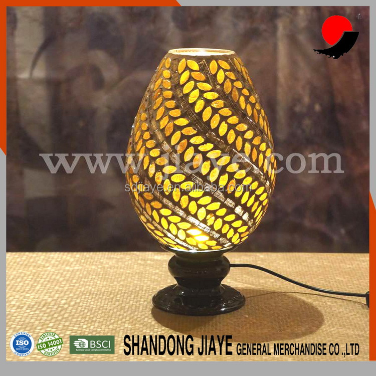 Outdoor Waterproof Solar Powered Color Changing Night Light Mosaic Glass Ball LED Lights Table Lamps for Home and Festival Gift
