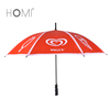 One Section Red Promotional Straight Golf Umbrella With Logo Printing