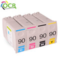 OCBESTJET compatible remanufactured ink cartridge for HP 90 designjet 4000/4500/4020/4520 high quality and loe price