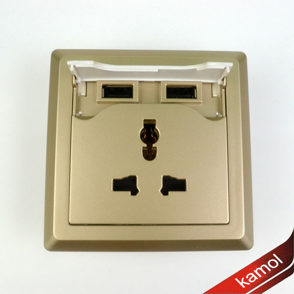 USB wall socket with slots europe type usb socket wall europe