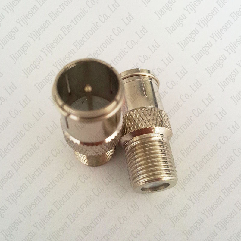 F Female To F Quick Male Plug Straight Coaxial TV Adapters Connectors