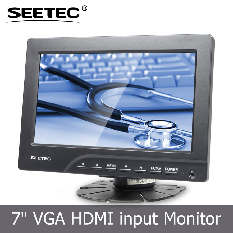 7 Inch VGA AV Interfaces TFT Car Headrest Monitor lcd panel speaker hdmi with remote control