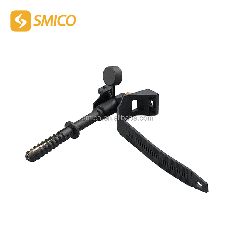 SMZD Self Locking Plastic Cable Tie Front Anchorage With Fixing Nail