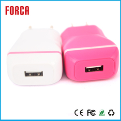 USB mobile phone charger Colorful Wall Travel Mobile Power