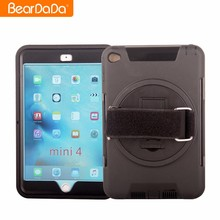 Hot Sale 360 Degree Rotating hand strap 2 in 1 cover for ipad mini 4