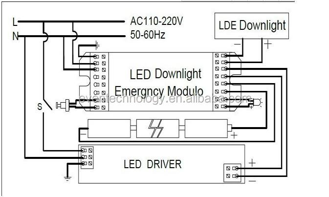 led emergency light module for tube t8 tube 90 minutes on