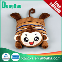 good quality natural rubber stripe hot water bag with cute monkey cover