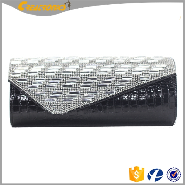 CR Export all over the world skull decoration made of acrylic new styling top design rhinestone clutch purse
