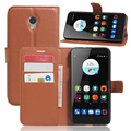 Flip cover PU leather case for ZTE blade v7 , with card slot and stand function,