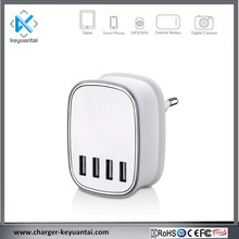 2017 new item 2 3 4 port usb plug 4-port wall charger with 22.5w 5v 3.1a 3.4a 4.5a