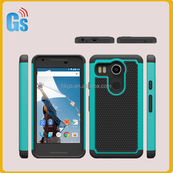 Football Grain 2 In 1 Combo Case For LG Angler Nexus 5X New Nexus 5 2015 Hybrid Cover
