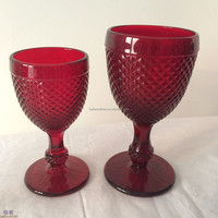 Red Colored Wine Glass