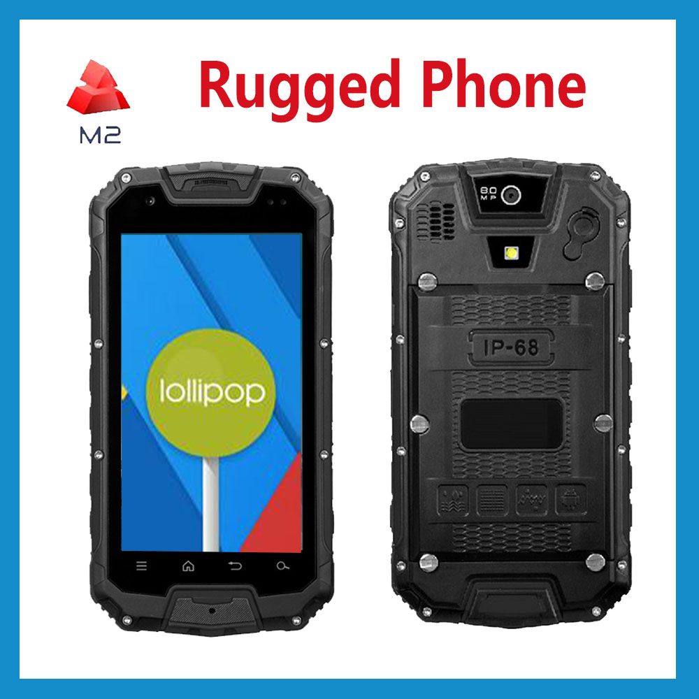 2016 Cheap Rugged Handheld RFID NFC Android5.1 13mp Camera 2G Ram Mobile Industrial Waterproof phone Cellphone two way Radio