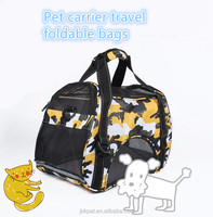 High capacity foldable pet carrier bags sided cat dog travel out door shoulder tote hand pet carrier bags