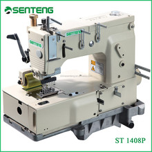 ST 1408 P 8 needle double chain stitch sewing machinery, flat bed multi needle industrial sewing machine