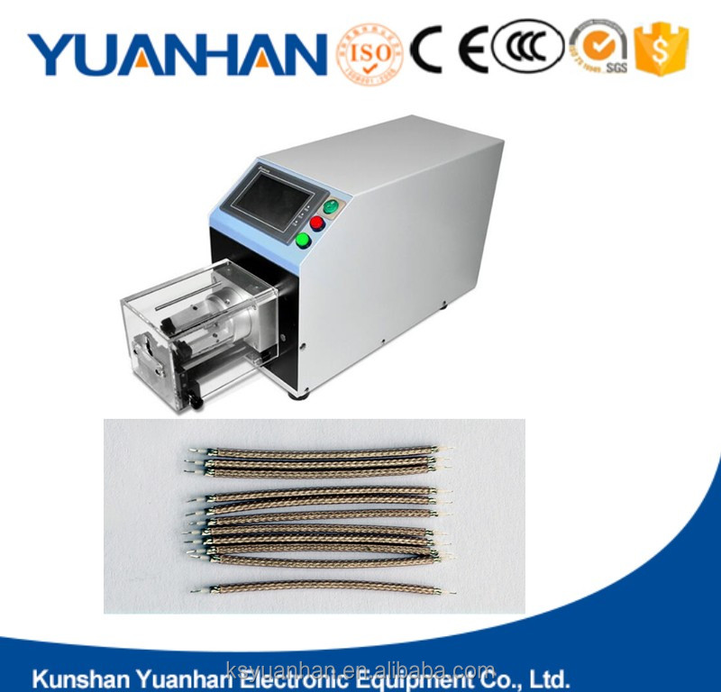 wire cutting and stripping machine and wire stripping machine for coaxial cable