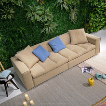 European nordic American home living room salon cafe furniture 1 2 3 seaters fabric sectional sofa set