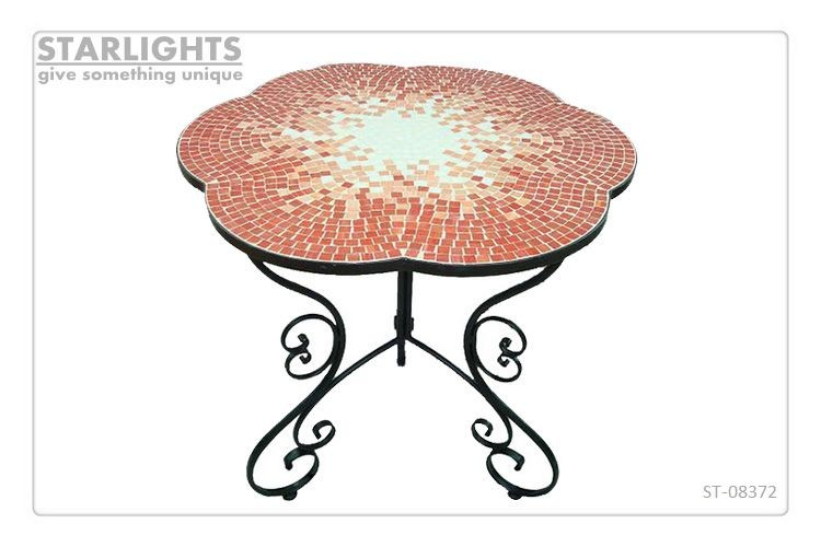 vintage square mosaic table with folding legs