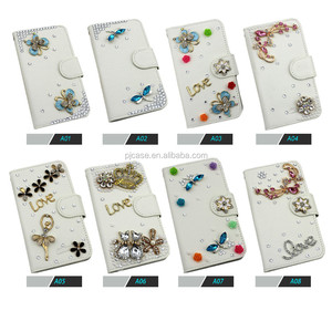 2015 Hot New Products For 3d bling crystal wallet Leather Flip Case For BlackBerry Z10 BBZ10