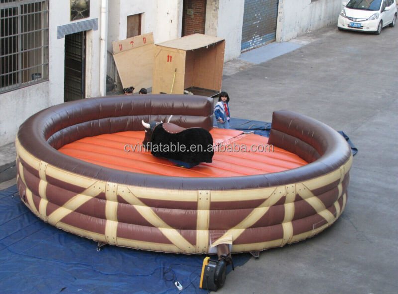 Good quality inflatable bull riding machine, inflatable rodeo bull sports, inflatable mechanical bull for sales