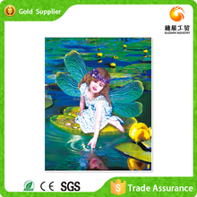 Interesting gift for kids room wall decoration 3d diamond mosaic children playing oil painting