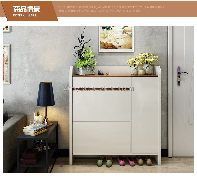 modern design white wooden shoe cabinets door layer shoe racks