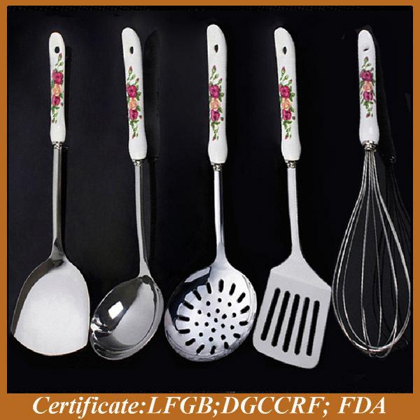 Kitchen Utensils Product ~ Ceramic handle stainless steel kitchen utensils buy