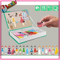 Educational Magnetic toy dress-up game for girls