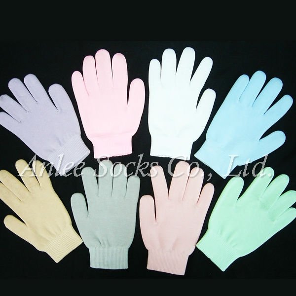 THV-209 Health care Moisture Gel Lined Cotton Spa Gloves