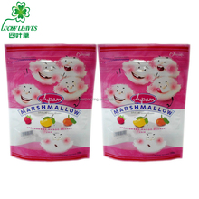 accept order stand up zipper marshmallow candy bag flexible plastic sweet packaging bag with clear window pet cpp bag