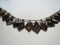 NEW UNIQUE DESIGN Smokey topaz faceted gemstone beads