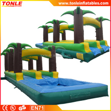 tropical palms tree inflatable water slide for sale/ inflatable slip n slide/ inflatable waterslide
