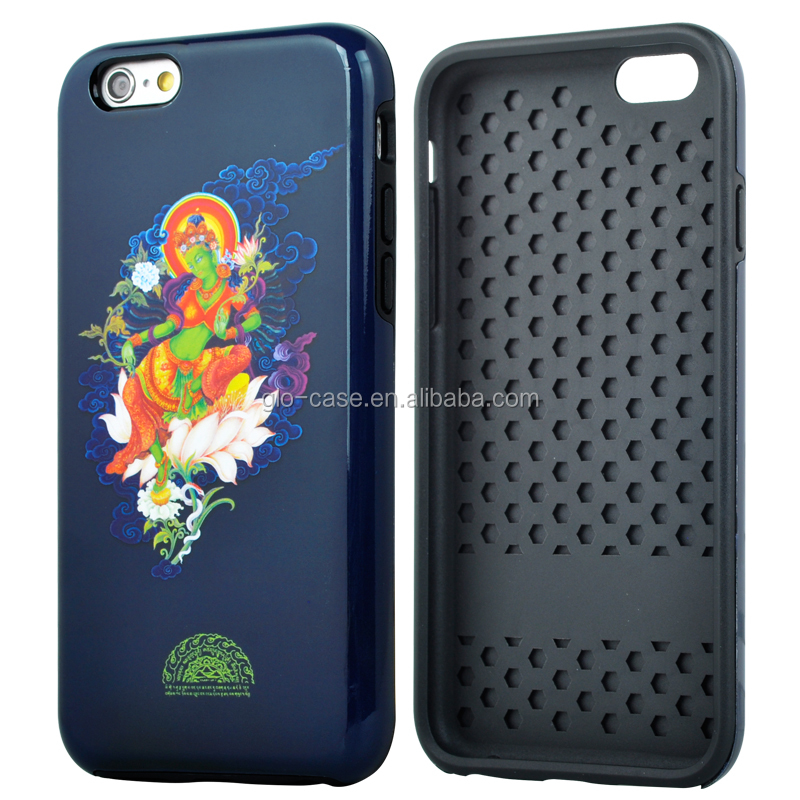 Digitally Printed Rugged PC and TPU Phone Case for iPhone 6