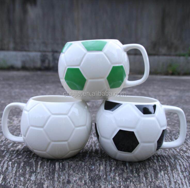 Europe custom football coffee mug for football fans collection mug